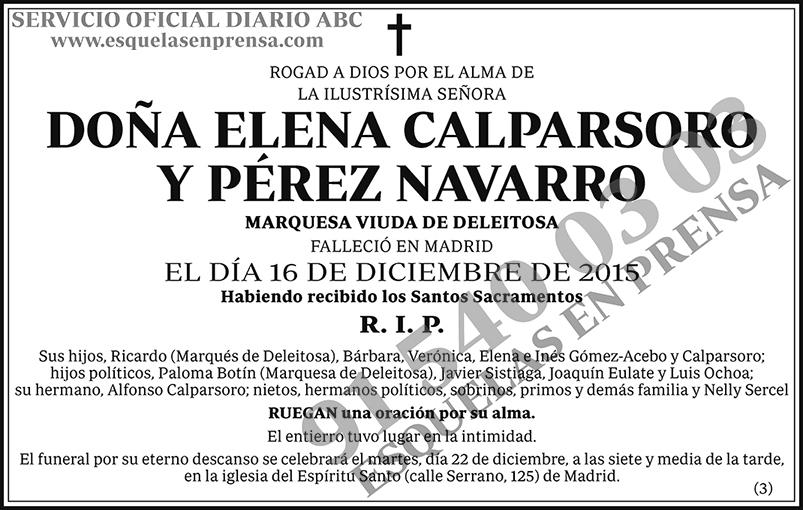 Elena Calparsoro y Pérez Navarro